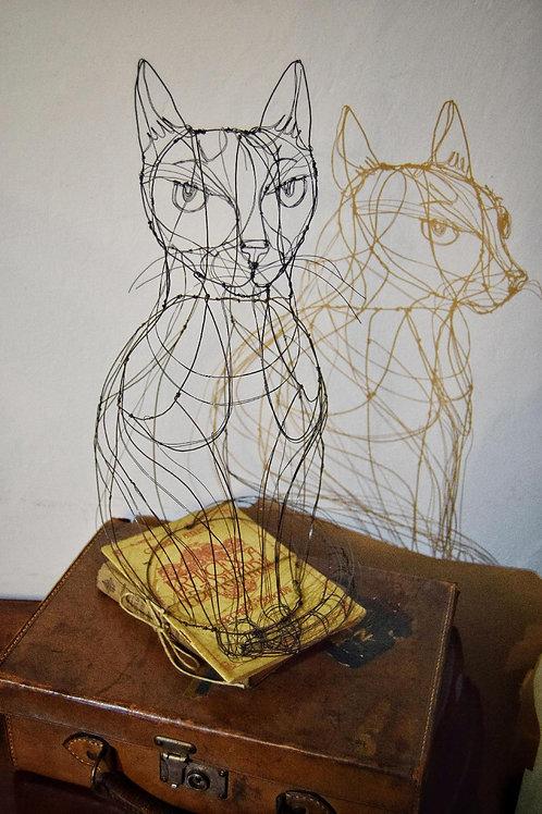 Scultura in fil di ferro (Gatto) | Wire Sculpture (Cat)