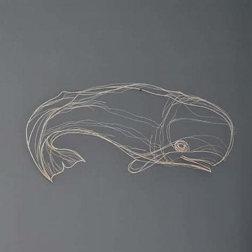 Scultura in fil di ferro (Capodoglio) | Wire Sculpture (Cachalot)