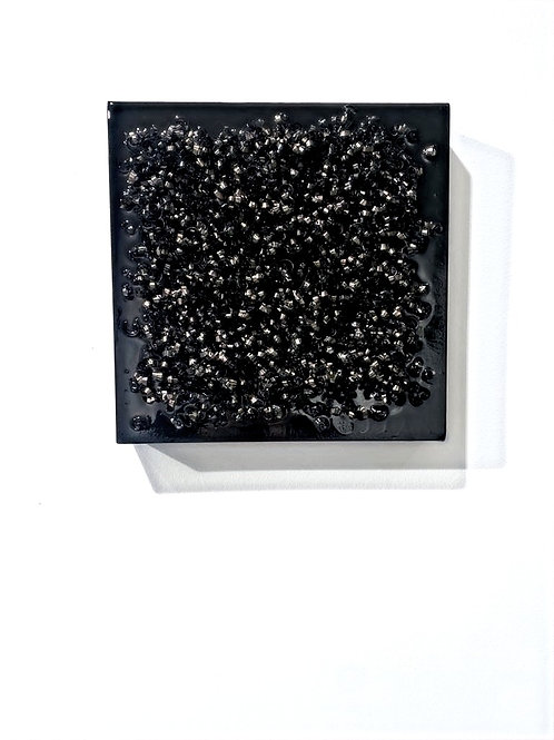 quadro in resina nera lucida | glossy black epoxy
