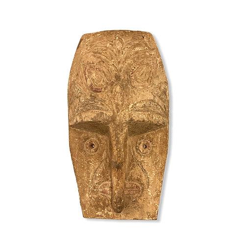 Maschera in legno intarsiato   Inlaid wood  mask