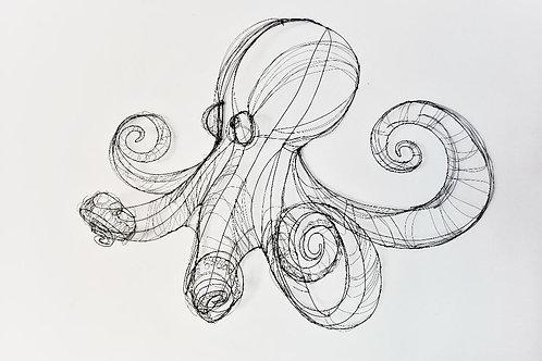 Scultura in fil di ferro (Polipo) | Wire Sculpture (Octopus)