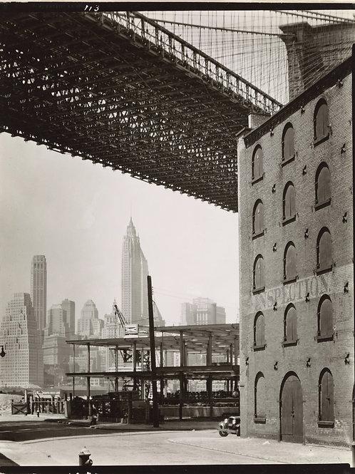 Brooklyn Bridge looking southwest, Brooklyn (1936)
