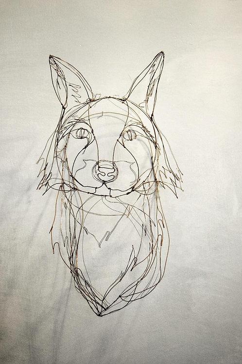 Scultura in fil di ferro (Testa di Volpe) | Wire Sculpture (Fox Head)