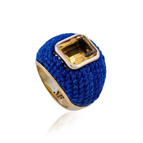 Anel Bombé Azul