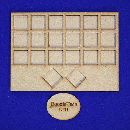 20mm Square - 6/6/6/2 - Movement Tray