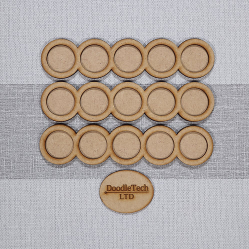 25mm Round - 5x1 - Rounded Edged Movement Trays
