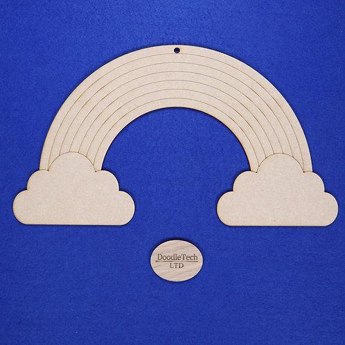 31x17cm Plain Rainbow Plaque XL (S1)