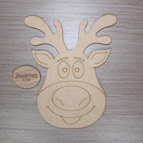 Large Detailed MDF Reindeer Head