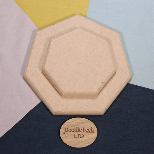 Heptagon - Square / Rounded Edge 6, 12, 18mm MDF (100mm - 600mm)