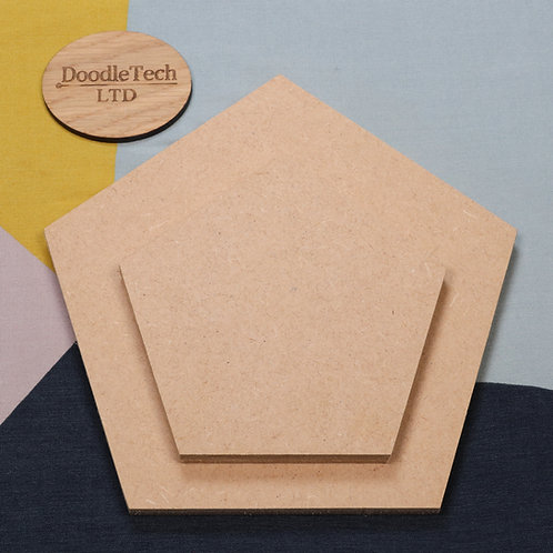 Pentagon - Square / Rounded Edge 6, 12, 18mm MDF (100mm - 600mm)