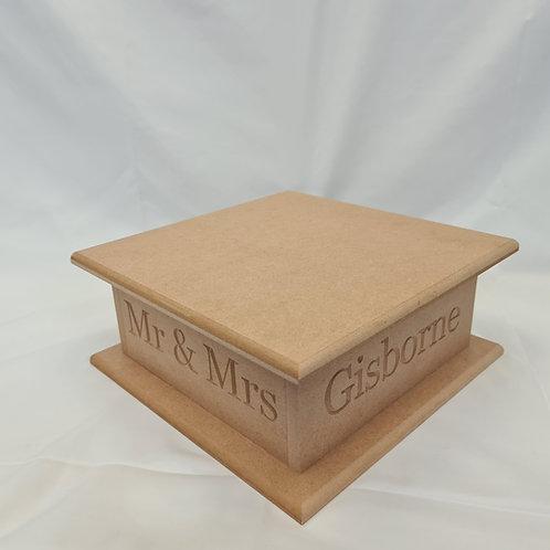 Square Wedding Cake Stand - Personalised / Plain