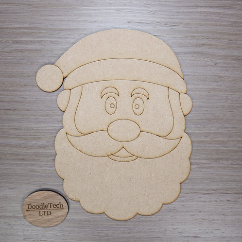 Large Detailed MDF Santa Head