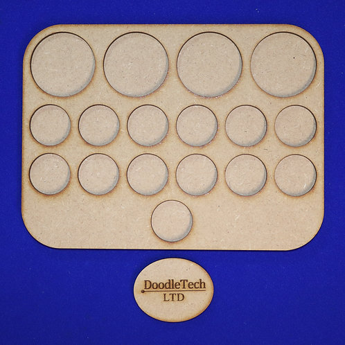 25 & 40mm Round - 1/6/6/4 - Movement Tray