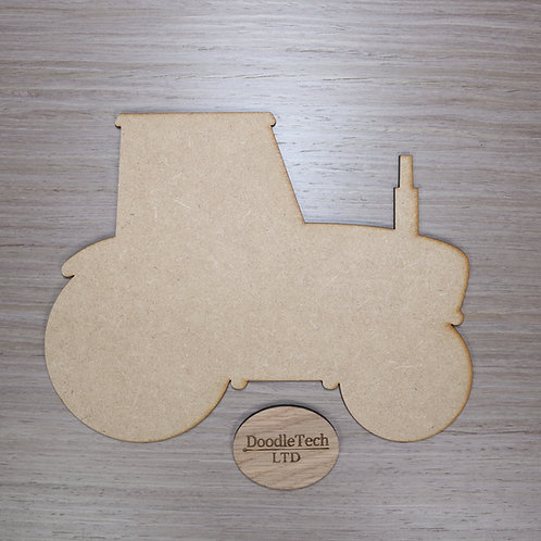 Large Plain MDF Tractor