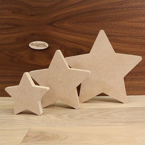 Freestanding stars 18mm MDF (100mm - 200mm or set of 3)
