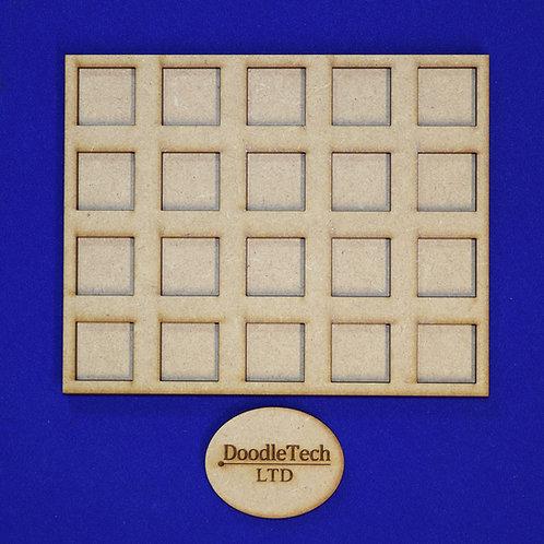 20mm Square - 5x4 - Movement Trays