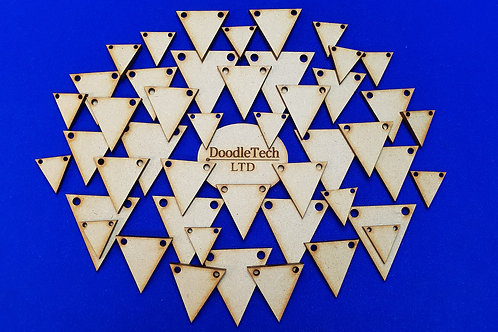 1-15cm MDF Bunting Triangles (3mm thick)