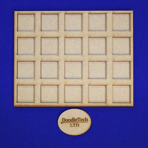 25mm Square - 5x4 - Movement Trays