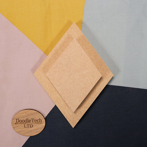 Diamond (4 - sided) - Square / Rounded Edge 6, 12, 18mm MDF (100mm - 600mm)
