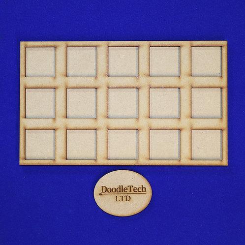 25mm Square - 5x3 - Movement Trays