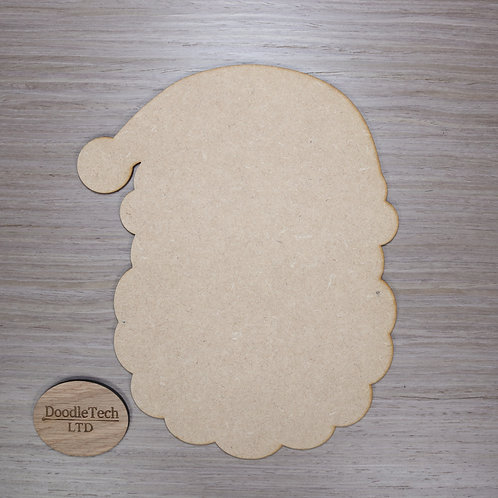 Large Plain MDF Santa Head