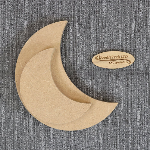 Crescent Moon's - Square / Rounded Edge 6, 12, 18mm MDF (100mm - 600mm)
