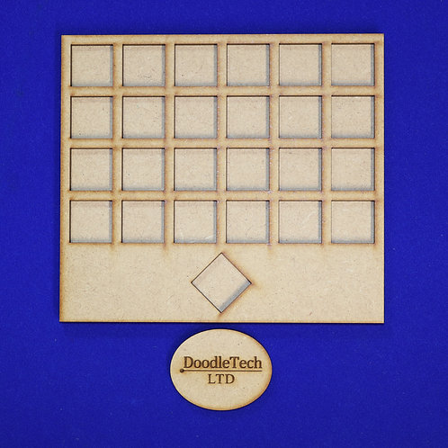 20mm Square - 6/6/6/6/1 - Movement Tray