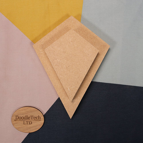 Kite (4 - sided) - Square / Rounded Edge 6, 12, 18mm MDF (100mm - 600)