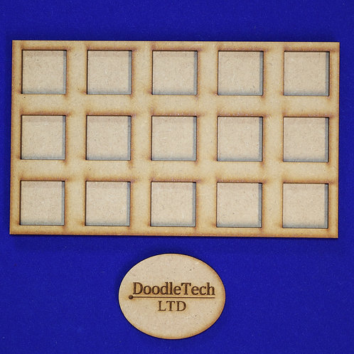 20mm Square - 5x3 - Movement Trays