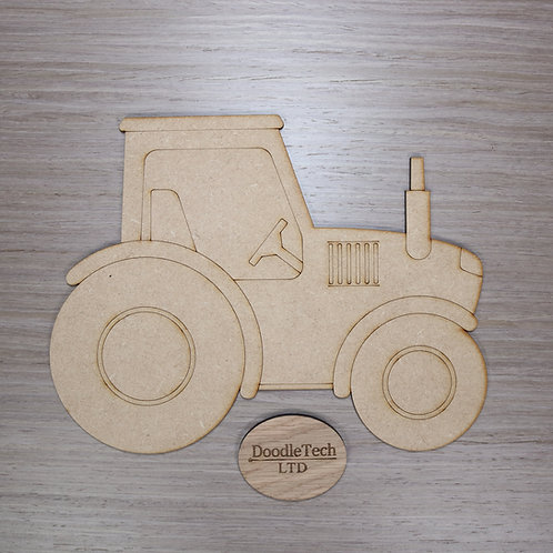 Large Detailed MDF Tractor