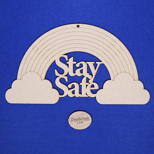 31x17cm Stay Safe Rainbow Plaque XL
