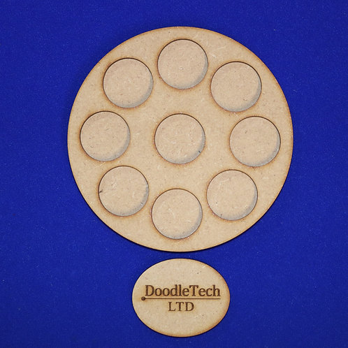 25mm Round - 9 Hole Circular - Movement Trays