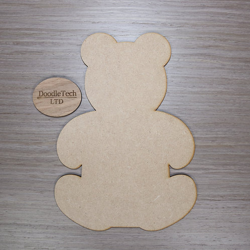 Large Plain MDF Teddy Bear