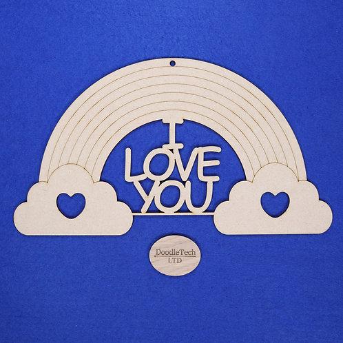 31x17cm I Love You Rainbow Plaque XL (S1)