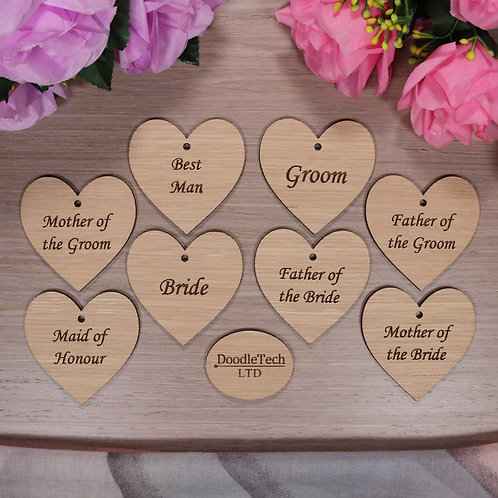 Set of 8 Wedding Table Place Cards / Role Settings