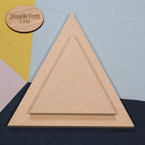 Triangle - Square / Rounded Edge 6, 12, 18mm MDF (100mm - 600mm)