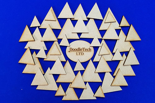 1-15cm MDF Triangles (3mm thick)