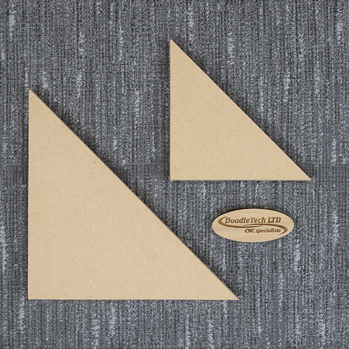 Right Angled Triangle - Square / Rounded Edge 6, 12, 18mm MDF (100mm - 600mm)