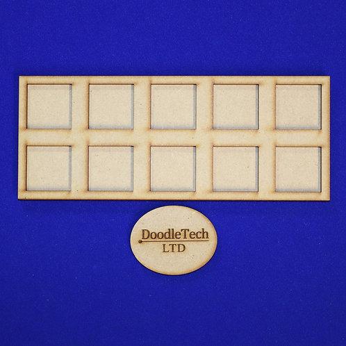 25mm Square - 5x2 - Movement Trays