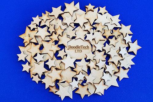 1-15cm MDF Stars (3mm thick)