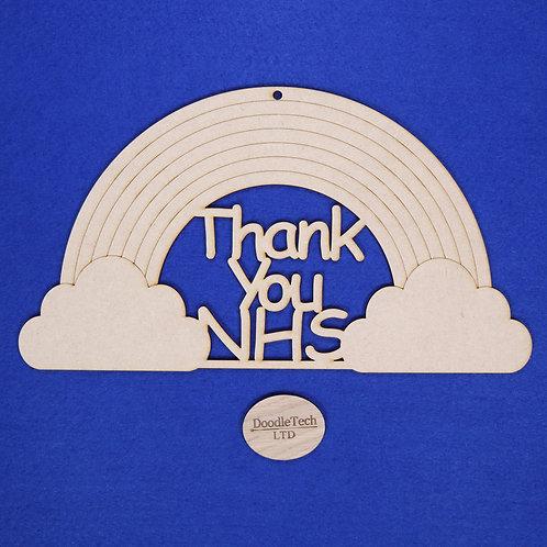 31x17cm Thank You NHS Rainbow Plaque XL (S1)