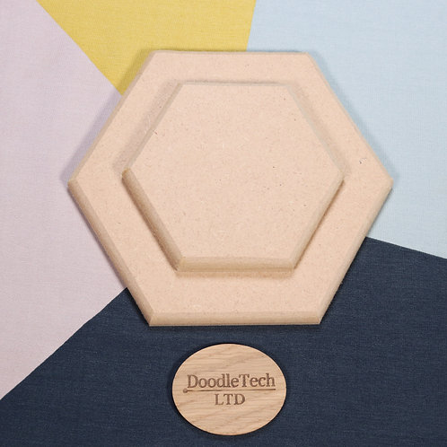 Hexagon - Square / Rounded Edge 6, 12, 18mm MDF (100mm - 600mm)