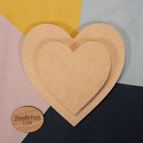 Heart - Square / Rounded Edge 6, 12, 18mm MDF (100mm - 600mm)