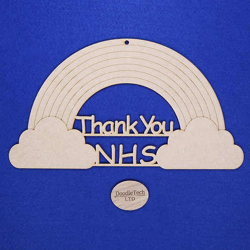 31x17cm Thank You NHS Rainbow Plaque XL (S2)