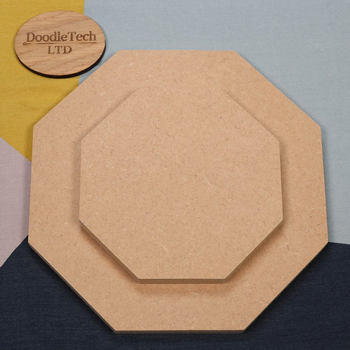 Octagon - Square / Rounded Edge 6, 12, 18mm MDF (100mm - 600mm)