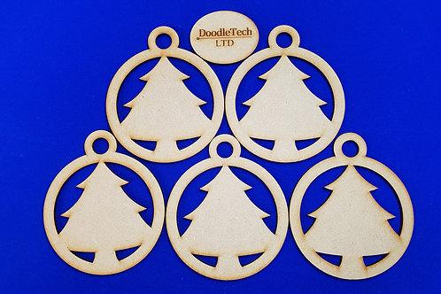 Plain Christmas Tree Baubles