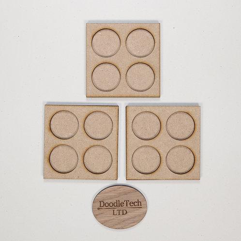 25mm Round - 2x2 - Pack of three - Movement Trays