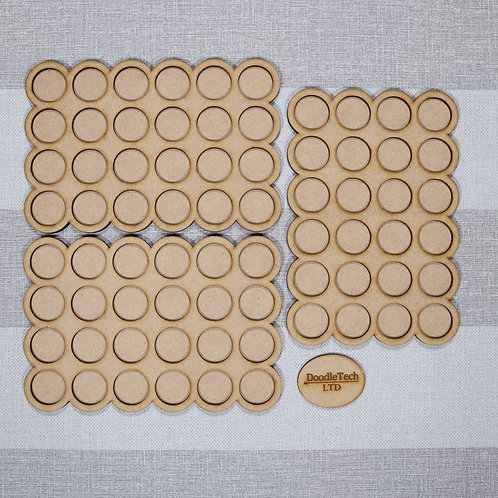 25mm Round - 6x4 - Rounded Edged Movement Trays