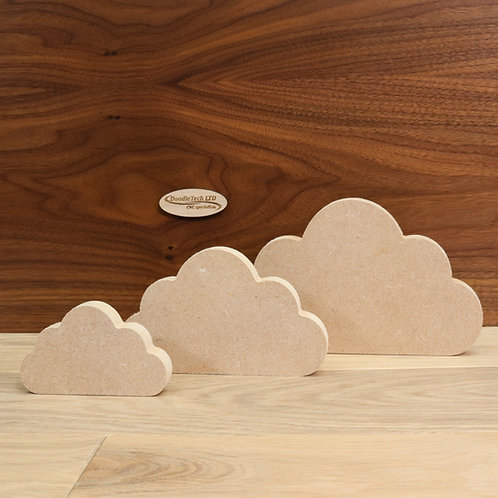 Freestanding clouds 18mm MDF (100mm - 200mm or set of 3)