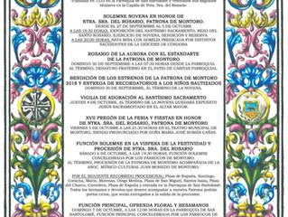 Cultos Ntra. Sra. Del Rosario, Patrona de Montoro